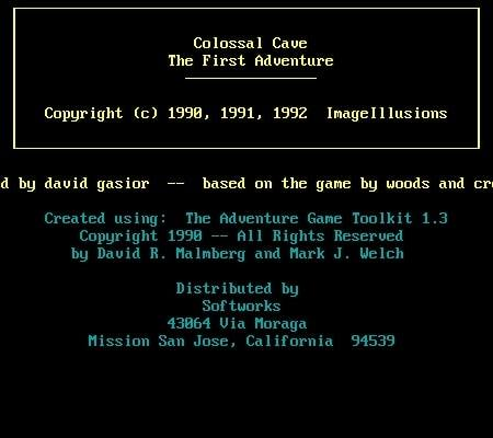 Colossal Cave Adventure 1992 edition