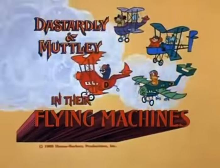 Dastardly and Muttley in their Flying Machines-min