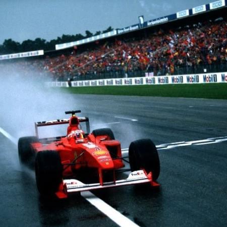 Rubens Barrichello wins at Hockenheim in 2000 for Ferrari