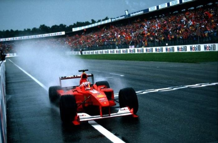 Rubens Barrichello wins at Hockenheim in 2000 for Ferrari