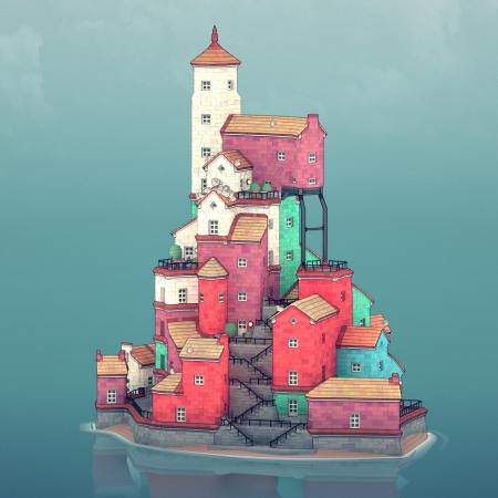 A building from the indie game Townscaper