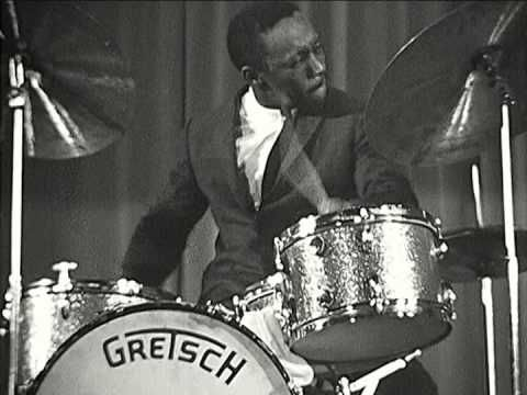 Art Blakey playing the drums