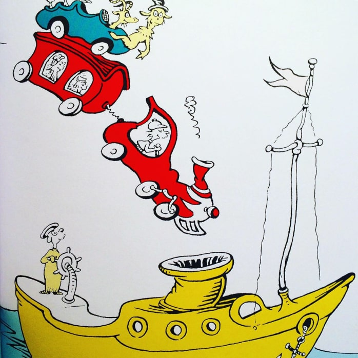 Artwork from Green Eggs and Ham by Dr. Seuss