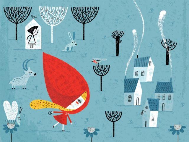A page from Caperucita Roja by Paloma Valdivia
