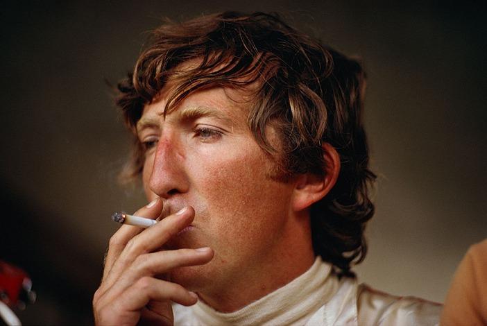 Jochen Rindt smoking before an F1 race.