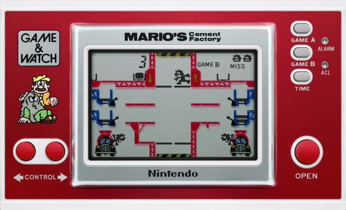 Mario's Cement Factory on the Game & Watch.