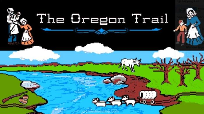 The Oregon Trail game from 1985.