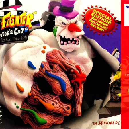 ClayFighter 63⅓ box on the Nintendo 64