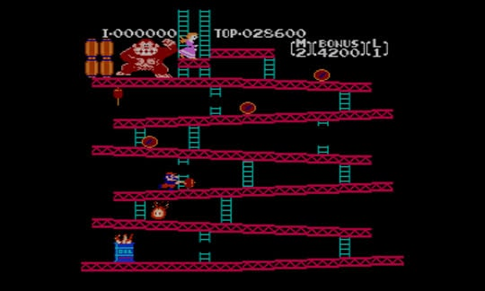 Donkey Kong the 1981 arcade game
