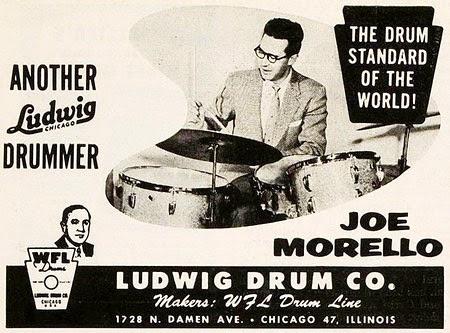 Ludwig drum kit Joe Morello newspaper advert