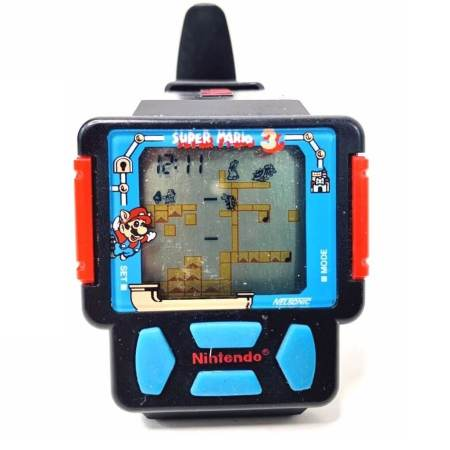 The Super Mario Bros. 3 gaming watch by Nintendo.