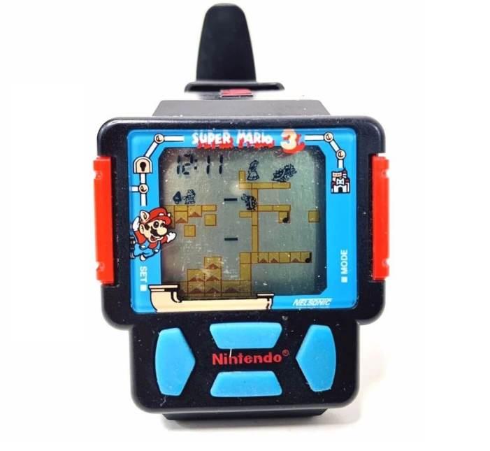The Super Mario Bros. 3 gaming watch by Nintendo.