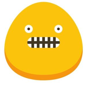 A professionanl moron - a yellow blob with a vacant expression