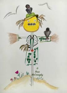 Professional Moron as a scarecrow