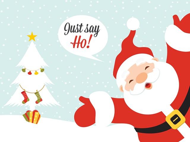 Santa just says ho
