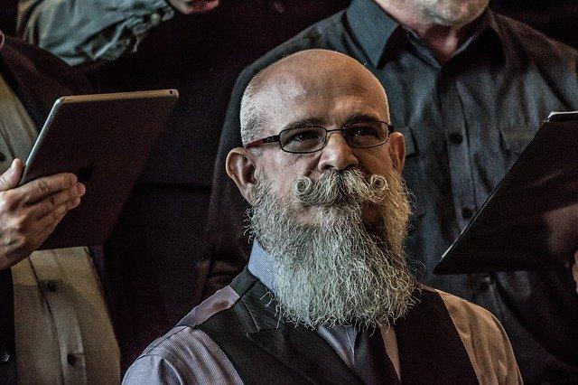 A man with a big bushy beard
