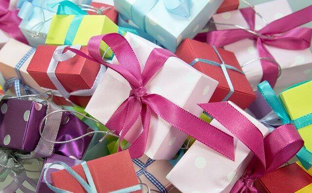 A selection of Christmas presents