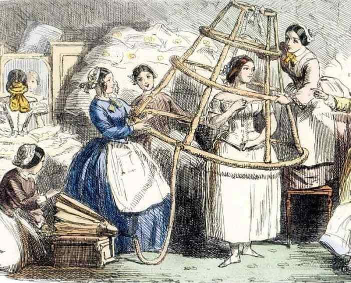 Punch's satirical picture of a Victorian-era crinoline
