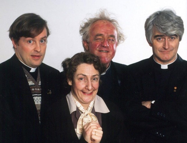 The cast of Father Ted