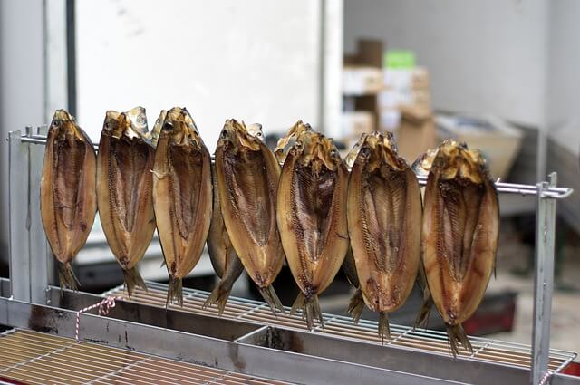 An assortment of fresh kippers