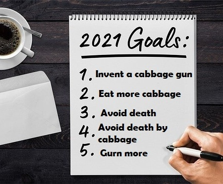 New Year's resolution list for 2021