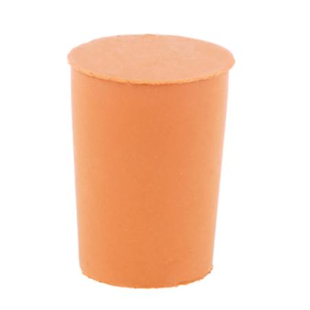 An orange rubber bung