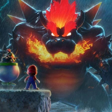 Bowser looking imposing as a monster in Bowser's Fury