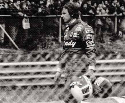 Didier Pironi walking away from Gilles Villeneuve's fatal accident.