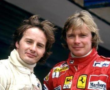 Didier Pironi with Gilles Villeneueve