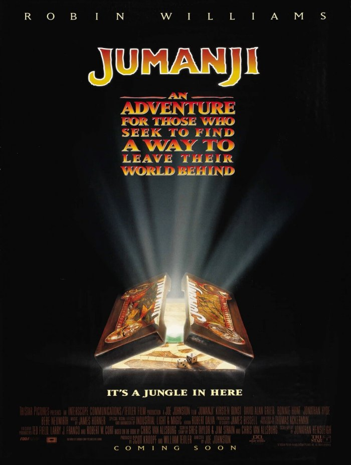 Jumanji from 1995 with Robin Williams
