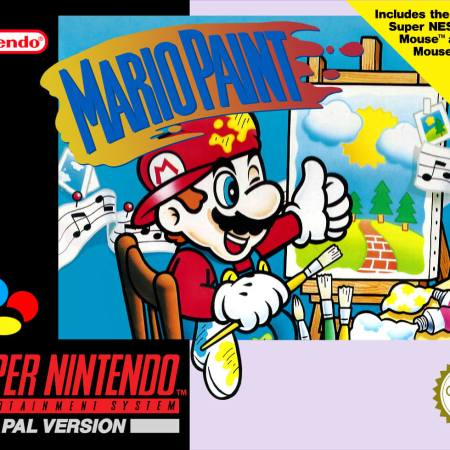 Mario Paint on the Super Nintendo