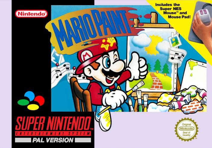 Mario Paint on the Super Nintendo