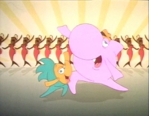 Sharky and George in the intro sequence to the TV show