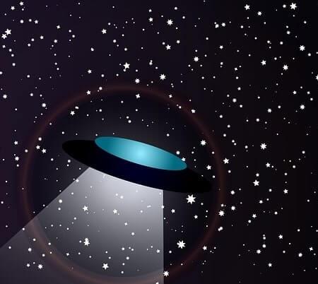 An alien spacecraft in space