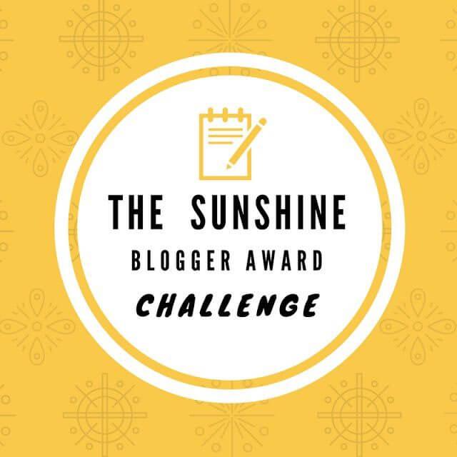 The Sunshine Blogger Award Challenge