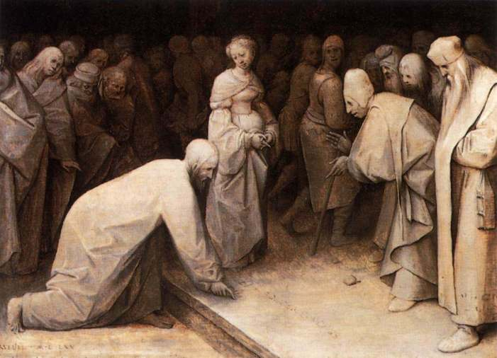 Christ and the Woman Taken in Adultery by Pieter Brueghel the Elder