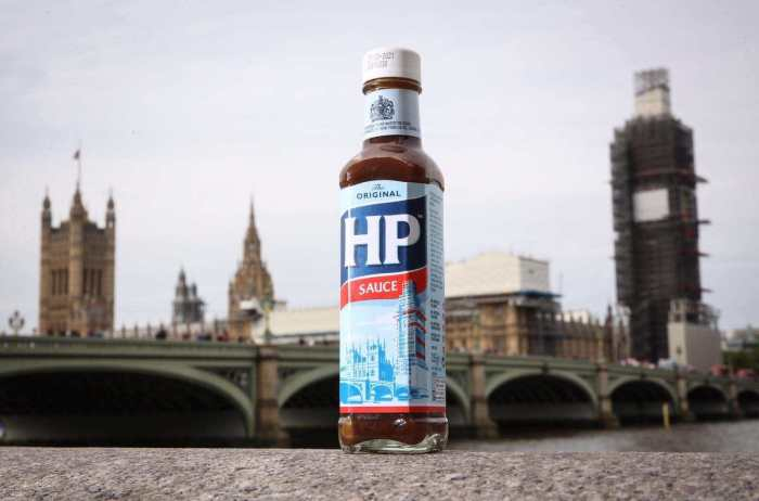 HP Sauce next to Big Ben in London
