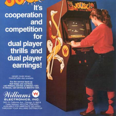 Joust the arcade game advertisement