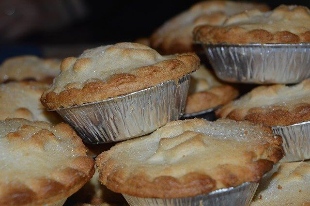 Mince pies piled on top of each other