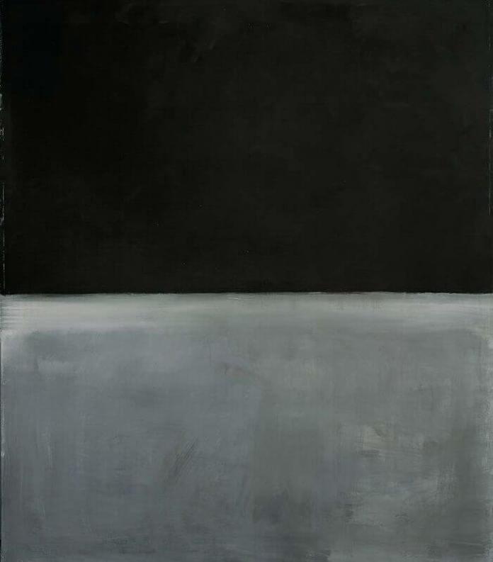 Untitled (Black on Gray) by Mark Rothko