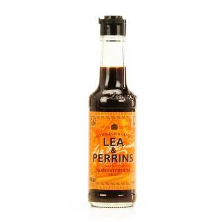 A bottle of Lea & Perrins Worcestershire Sauce