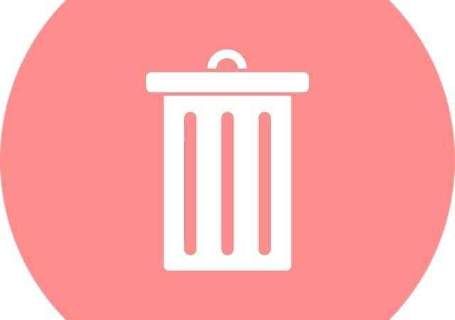 A bin for an app icon