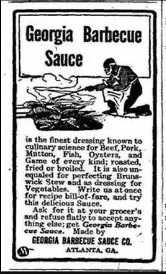 Historical Georgia barbecue sauce newspaper clipping