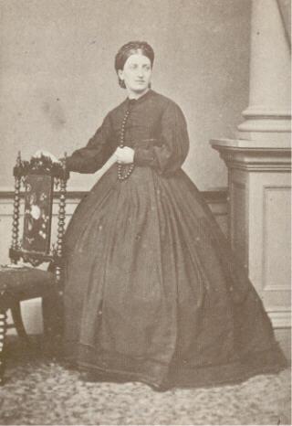 Isabellla Beeton in a crinoline