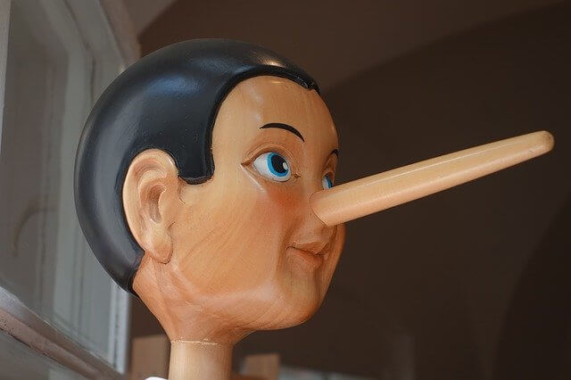 Pinocchio with his giant nose