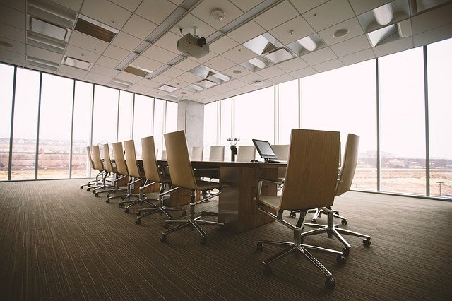 An empty business meeting room