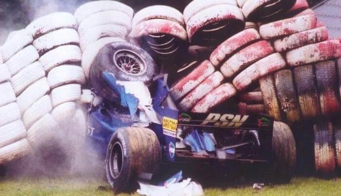 Luciano Burti at Spa in 2001