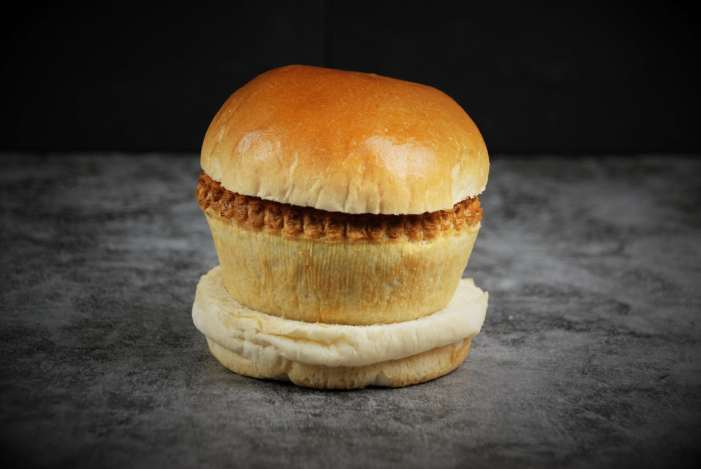 The Wigan kebab (also called the pie barm)