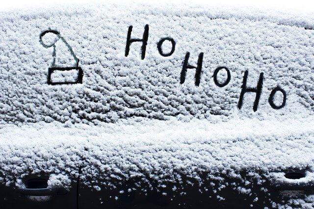 Ho Ho Ho written in the snow